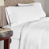 Pointehaven 175 GSM Solid Flannel Twin Sheet Set in White