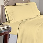 Pointehaven 175 GSM Solid Flannel Twin Sheet Set in Yellow
