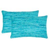 Safavieh Eloise Oblong Throw Pillows in Blue (Set of 2)