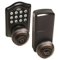 Honeywell Electronic Entry Knob Door Lock with Keypad in Oil Rubbed Bronze