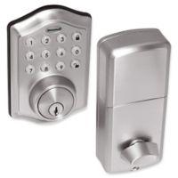 Honeywell Electronic Entry Deadbolt Door Lock with Keypad in Satin Nickel