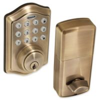 Honeywell Electronic Entry Deadbolt Door Lock with Keypad in Antique Brass