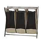 Household Essentials® Stainless Steel X-Frame Triple Laundry Hamper