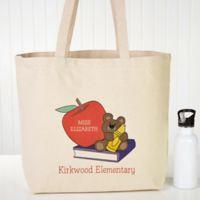 Teddy Bear Teacher Canvas Tote Bag