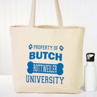 """Property of..."" Dog Canvas Tote Bag"