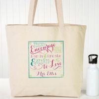 Teacher Quotes Canvas Tote Bag
