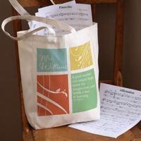 Teacher Inspiration Teacher Petite Canvas Tote Bag