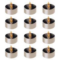 Lumabase 12-Count Silver Plated Battery Operated LED Tea Light
