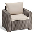 Keter California All-Weather Armchair in Cappuccino with Cushions