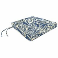 Print Box Edge Trapezoid Chair Cushion in Sunbrella® Ayideal Nautical