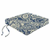 Print Boxed Chair Cushion in Sunbrella® Ayideal Nautical