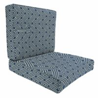 Print 46-Inch x 25-Inch 2-Piece Deep Seat Chair Cushion in Sunbrella® Integrated Indigo
