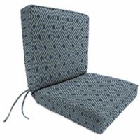 Print Boxed Edge Dining Chair Cushion in Sunbrella® Integrated Indigo