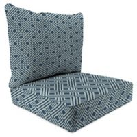 Print 2-Piece Deep Seat Chair Cushion in Sunbrella® Integrated Indigo