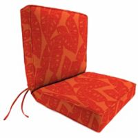 Jordan Manufacturing Boxed Edge Dining Chair Cushion in Sunbrella® Radiant Sangaria