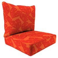 Print 2-Piece Deep Seat Chair Cushion in Sunbrella® Radiant Sangria