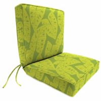 Jordan Manufacturing Boxed Edge Dining Chair Cushion in Sunbrella® Radiant Kiwi