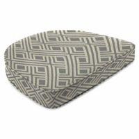 Jordan Manufacturing Contoured Boxed Seat Cushion in Sunbrella® Integrated Steel