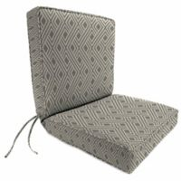 Jordan Manufacturing Boxed Edge Dining Chair Cushion in Sunbrella® Integrated Steel