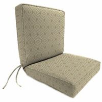 Jordan Manufacturing Boxed Edge Dining Chair Cushion in Sunbrella® Integrated Dune
