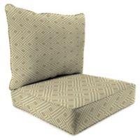 Print 2-Piece Deep Seat Chair Cushion in Sunbrella® Integrated Beige
