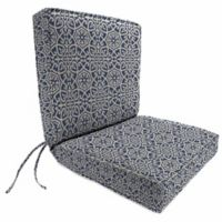Jordan Manufacturing Boxed Edge Dining Chair Cushion in Sunbrella® Ayathena Sapphire