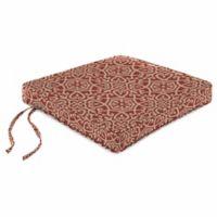 Print Boxed Chair Cushion in Sunbrella® Ayathena Cayenne