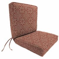 Jordan Manufacturing Boxed Edge Dining Chair Cushion in Sunbrella® Ayathena Cayenne