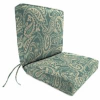 Jordan Manufacturing Boxed Edge Dining Chair Cushion in Sunbrella® Ayideal Ocean
