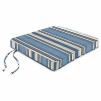 Stripe 18-Inch Chair Cushion-Boxed in Sunbrella® Aynovack Nautical