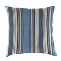 Stripe Outdoor 20-Inch Square Throw Pillows in Sunbrella® Aynovack Nautical