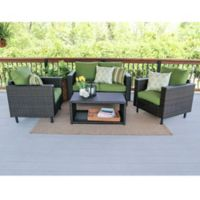 Draper 4-Piece Seating Set in Green