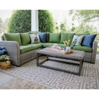 Forsyth 5-Piece Sectional in Green