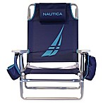 Nautica® 5-Position Beach Chair in Racer Blue