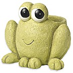 Precious Moments® Hop To It Frog Planter in Green
