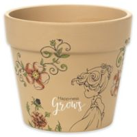 Precious Moments® Happiness Grows Round Terra Cotta Indoor/Outdoor 3.75-Inch High Pot Planter