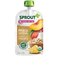 Sprout® 3.5 oz. Stage 2 Peach Organic Oatmeal with Coconut Milk and Pineapple