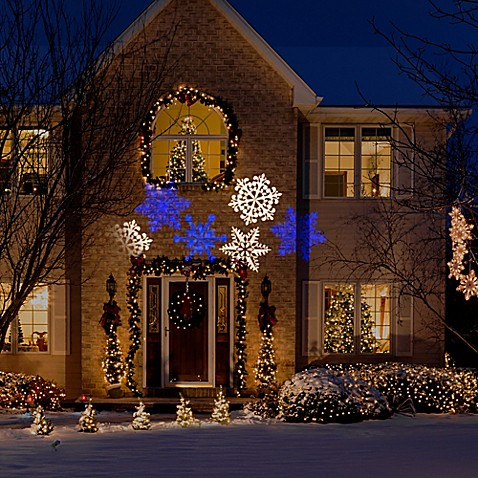 Snow Flurry Whirl A Motion Lightshow Projection Bed Bath