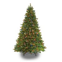 Puleo International 7.5-Foot Fraser Fir Pre-Lit Artificial Christmas Tree with LED Multicolor Lights