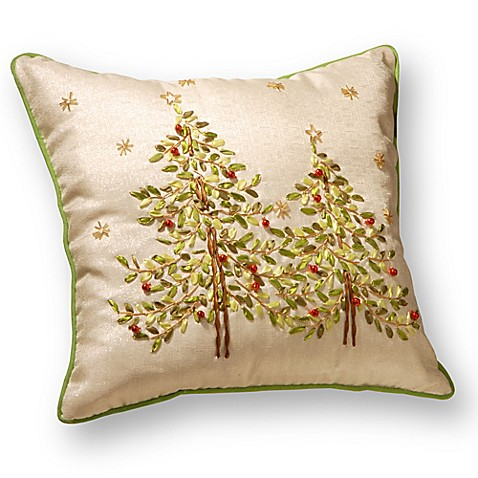National Tree Company Christmas Trees Embroidered Throw Pillow - Bed Bath & Beyond