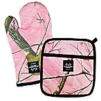 Design Imports Realtree® Camo 2-Piece Oven Mitt and Pot Holder Set in Pink