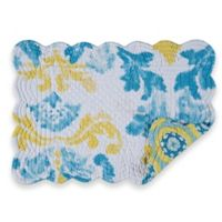 Delilah Quilted Placemats in Yellow/Blue (Set of 6)