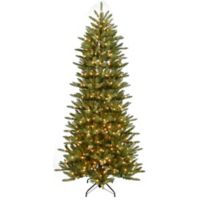 Puleo International 7.5-Foot Slim Fraser Pre-Lit Artificial Christmas Tree with Clear Lights