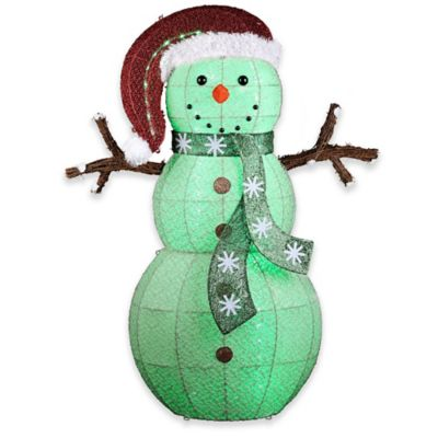 Buy outdoor snowman from bed bath beyond gemmy 50 inch color changing frosted snowman keyboard keysfo Images