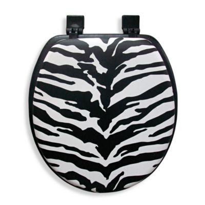 black and white toilet seat. Ginsey Cushioned Standard Toilet Seat in Zebra Buy Decorative Seats from Bed Bath  Beyond