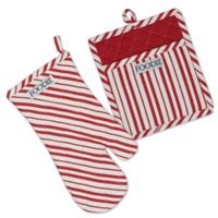 Design Imports Gourmet Chef 2-Piece Oven Mitt and Pot Holder Set in Tomato