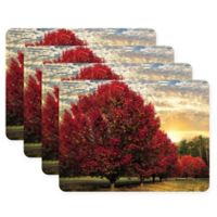 Pimpernel Crimson Trees Placemats (Set of 4)