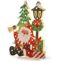 National Tree Company® 17-1/2-Inch Wooden Santa Scene