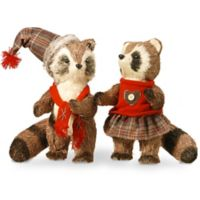 National Tree Company 2-Piece 12-Inch Holiday Raccoon Set