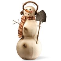National Tree Company 21-Inch Holiday Snowman Decoration in Ivory